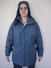 Vintage 80s WOOLRICH 60/40 Quilt Lined Hooded Navy Work Parka Jacket Womens L