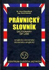 English-Slovak and Slovak-English Dictionary of Law (Edicia Slovniky) by Chorva