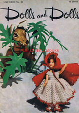 Dolls and Doll Costumes Clothes: Crochet Patterns, Star Book No.84 on CD