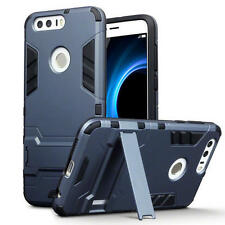 Slim Shock Resistant Armour Stand Case for Huawei Honor 8 - Dark Blue