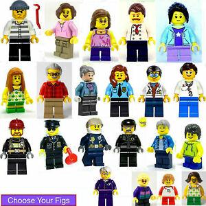 Lego Minifigure Man Woman Boy Girl Child Mom Dad Grandpa Police Fireman Doctor