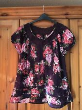 Papaya Navy Floral Top Size 18