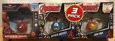 MARVEL AVENGERS 3 PACK Flying UFO BALL Iron Man/Captain America/Spider-Man