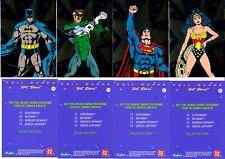 DC STARS FOIL CARDS SET OF 4 SUPERMAN,BATMAN,WONDER WOMAN,GREEN LANTERN 1994