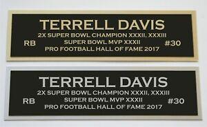 Terrell Davis nameplate for signed jersey football helmet or photo