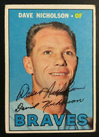 Dave Nicholson Braves signed 1967 Topps baseball card #113 Auto Autograph 2