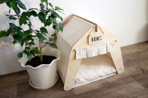 House for Dog, Cat, Unicorn, or any ^_^ Wood & Cotton / Eco-friendly, Healthful