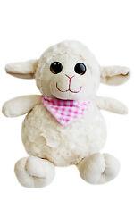 Plüschtier Schaf mit rosa Halstuch, 24cm, super weich, Kuscheltier, Schmusetier