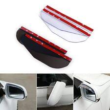 2pcs Car Rear View Side Mirror Rain Eyebrow Board Cover Sun Visor Shade Shield