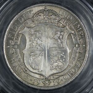 1919 HALF CROWN. GRADED AND VERY CHOICE.