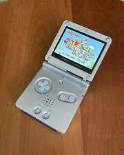 Nintendo Gameboy Advance GBA SP IPS v2 Screen Silver Professionally Refurbished