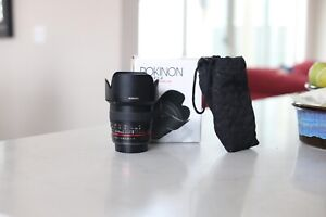Rokinon (or Samyang) 50mm f/1.4 Lens for Canon EF Declicked Aperture