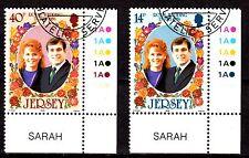 Jersey - 1986 Royal wedding - Mi. 386-87 VFU
