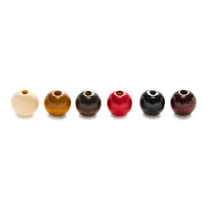 10-400 Piece 6 Color Round Wood Loose Spacer Beads Jewelry Making 4-20mm