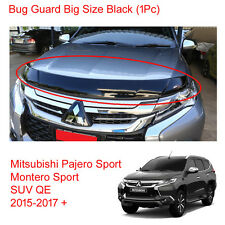 For Mitsubishi Pajero Montero Sport Bug Guard Shield Hood Big Black 2016 2017