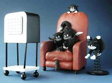 More details for dubout cats scary movie cat figurine collectables gift boxed ornaments funny