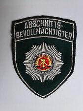 """DDR MdI Volkspolizei Aufnäher Textil """"Abschnittsbevollmächtigter"""" ABV grün"""