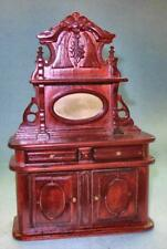 VINTAGE VICTORIAN SIDEBOARD MAHOGANY #048 DOLLHOUSE FURNITURE MINIATURES