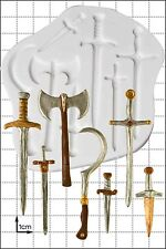 Silicone Mould Swords & Weapons | Food Use FPC Sugarcraft FREE UK shipping!