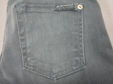 SEVEN 7 FOR ALL MANKIND WOMENS THE SKINNY SLIM FIT GRAY SATEEN JEANS SIZE 25 NEW