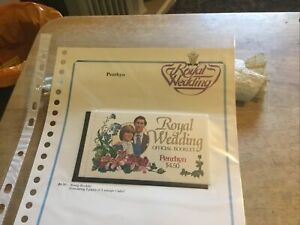Penrhyn Unmounted Mint Stamp Booklet With Stamps Charles/di Royal Wedding