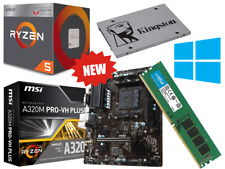 AMD Ryzen 4 Core 3.9GHz MSI A320M PRO Gaming Motherboard Bundle 8GB RAM SSD