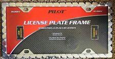 Pilot Automotive License Plate Frame NEW DIAMOND BOLT Universal Fit Holder Zinc