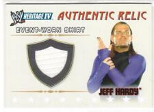 "WWE/WWF TOPPS 2008 ""JEFF HARDY"" HERITAGE 1V RELIC EVENT-WORN SHIRT INSERT CARD"