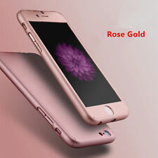 9H Tempered Glass + 360 Degree Full Cover Case For iPhone 7 7 Plus 6 6s 5s SE