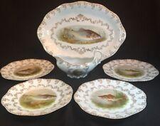 Mignon Z S And Co. Bavaria Fish Set - Platter, 4 Plates, Sauce Boat