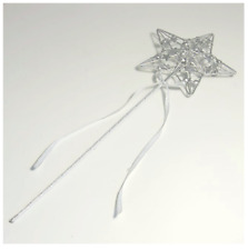 Silver Star Wedding Bridesmaid Flower Girl Fairy Princess Angel Wand by