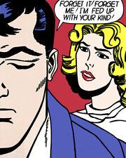 Art Poster Roy Lichtenstein Popart - Forget it Forget me  Art Print