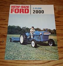 1962 1963 1964 1965 Ford Tractor 2-Plow 2000 Sales Brochure 62 63 64 65
