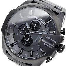 NEW DIESEL DZ4355 Men's Mega Chief Black Chronograph Watch