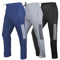 Mens Tracksuit Jog Pants Jogging Bottoms Trousers Joggers Zip Pockets Skin Fit