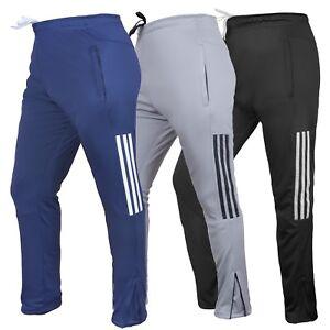 Mens Tracksuit Jog Pants Jogging Bottoms Trousers Joggers Zip Pockets Skin Fit