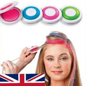 4 Colour Hair Temporary Dye Powder Hair Styling Chalk Salon Kits Party UK