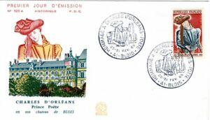 1445  + FDC  ENVELOPPE    1er JOUR   CHARLES  D' ORLEANS  BLOIS