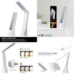 LED Desk Lamp Battery Powered,Rozky Cordless Foldable Task Light ,Portable...