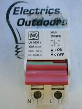 MK 100 AMP DOUBLE POLE MAIN SWITCH DISCONNECTOR SENTRY LN 5500S AC22A