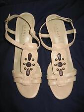 Talbots Natural Color Strappy Heels Sz. 10AA EUC