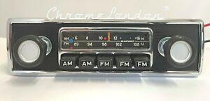 BLAUPUNKT FRANKFURT US Chrome Classic Car FM Radio +MP3 WARRANTY BMW 2002 '66-74