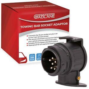 13 to 7 Pin Trailer Adaptor Plug Caravan Tow Bar Towing Electric Socket Adapter