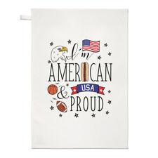 I'M Américain Et Fier Thé Serviette Plat Tissu - USA Drapeau Amérique
