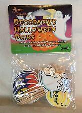 Acme International Decorative Halloween Holiday / Cupcake Picks Package Of 24