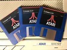 "N.ro 3 Floppy 3,5"" Cubase v3.01 per Atari 1040 ST Mega ST"
