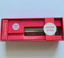 Hot Pink Office Desk Stapler With 266 Staples Standard Size School Supply