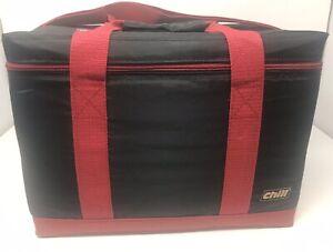 CHILL Cooler Bag Insulated Shoulder Strap Handles Wine Glass Removable Divider
