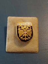 WIEN Vienna Two Headed Eagle Shield Heraldic Crest Coat of Arms Pin Badge
