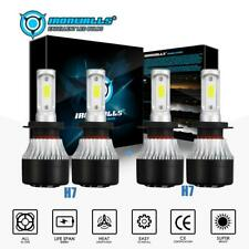 Combo H7+H7 LED Headlight Bulbs Kit Hi-Low Beam 3600W 540000LM High Power 6000K